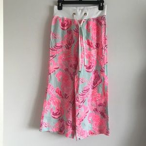 Lilly Pulitzer NWT Pants RARE! Print Beach XS pink